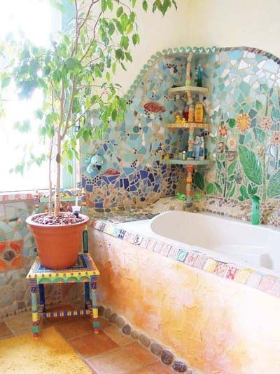 Amazing Bohemian Style Bathroom Decor Ideas 16