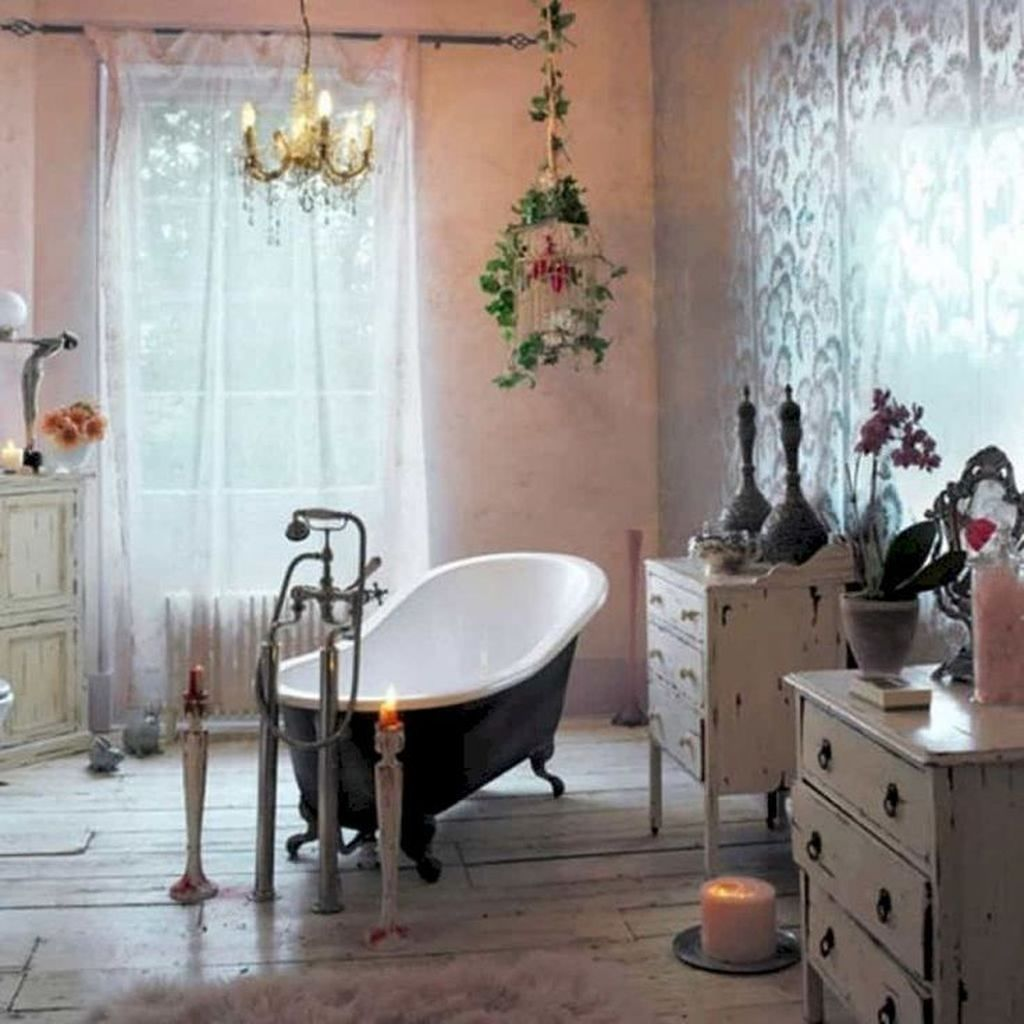 Amazing Bohemian Style Bathroom Decor Ideas 32