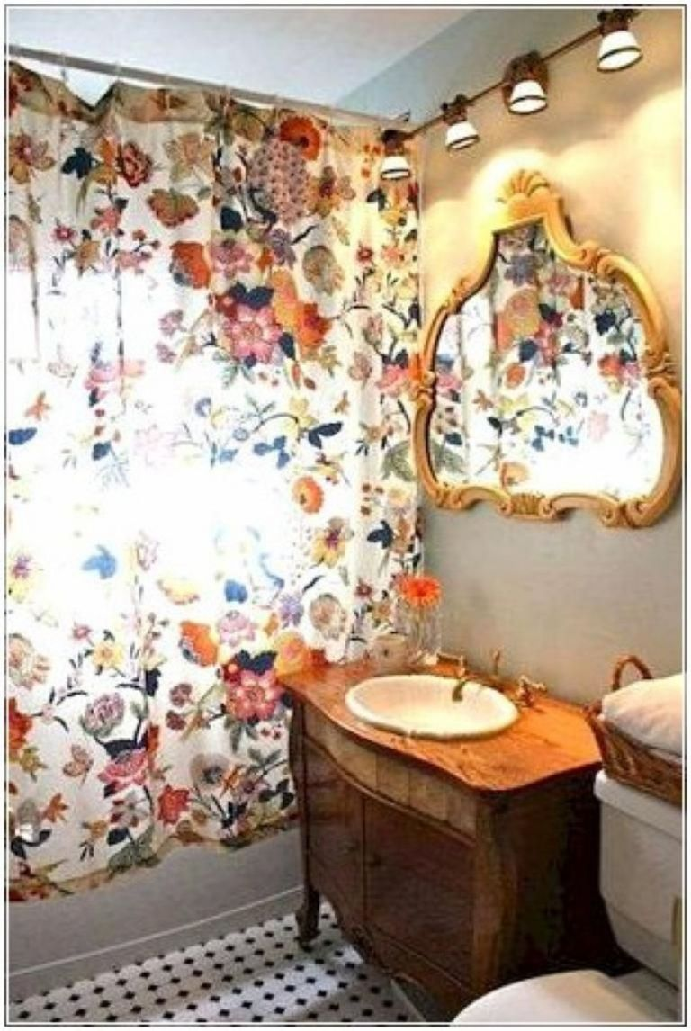 Amazing Bohemian Style Bathroom Decor Ideas 34