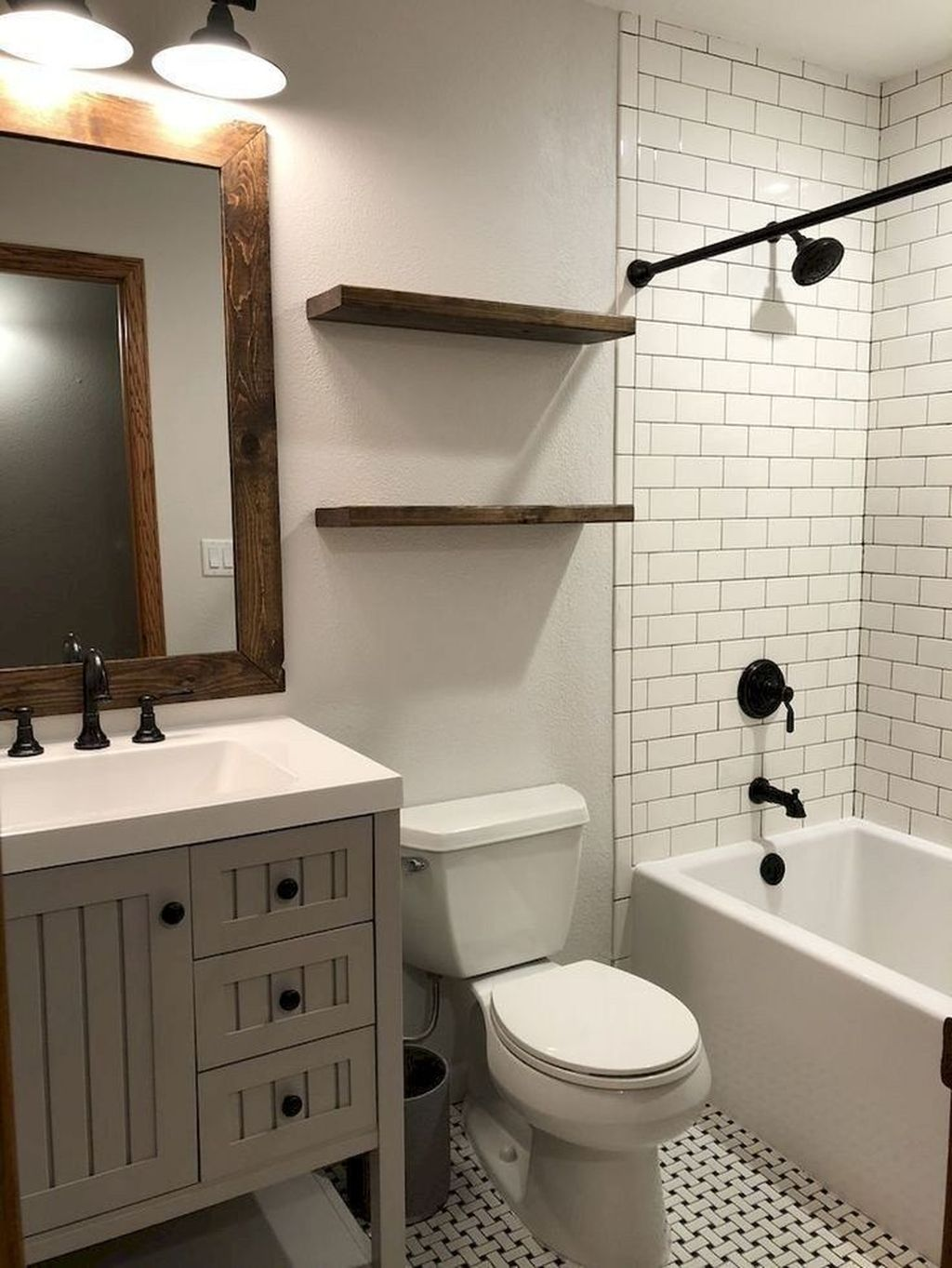 Awesome Small Bathroom Remodel Ideas On A Budget 24