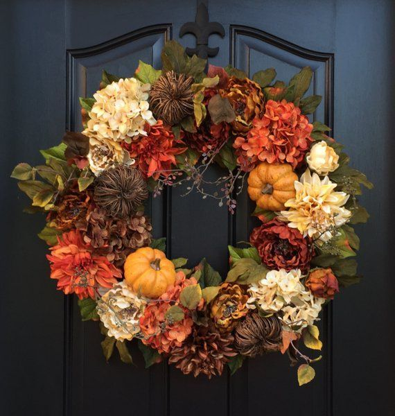Awesome Thanksgiving Front Door Decor Ideas 04
