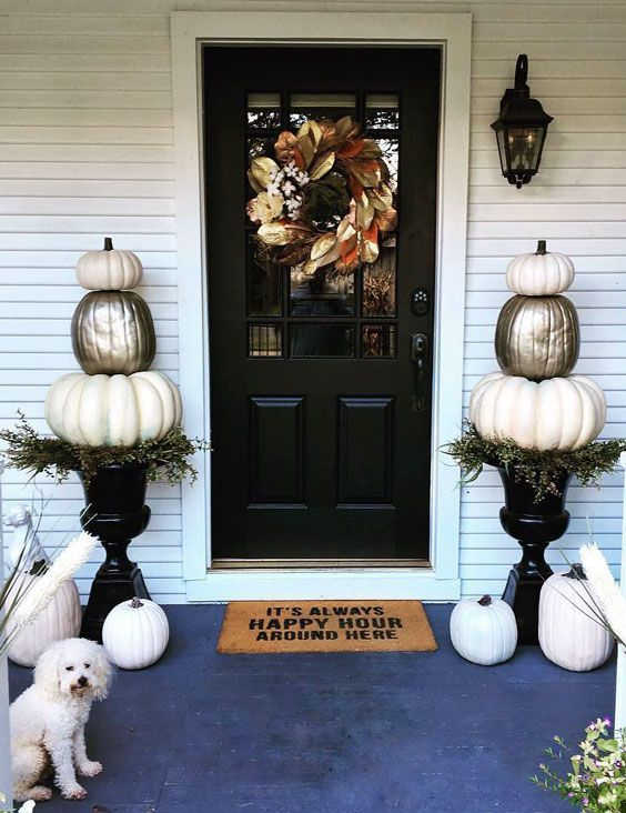 Awesome Thanksgiving Front Door Decor Ideas 05