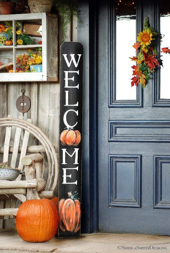 Awesome Thanksgiving Front Door Decor Ideas 22