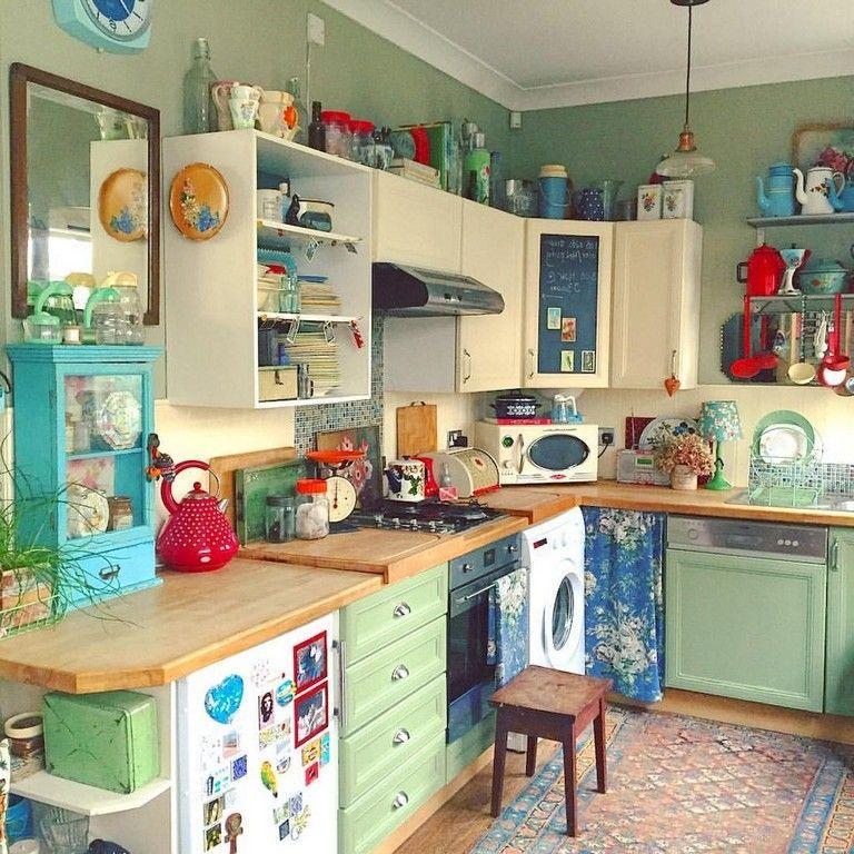 Beautiful Bohemian Style Kitchen Decoration Ideas 08