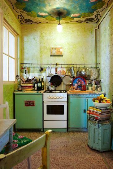 Beautiful Bohemian Style Kitchen Decoration Ideas 25