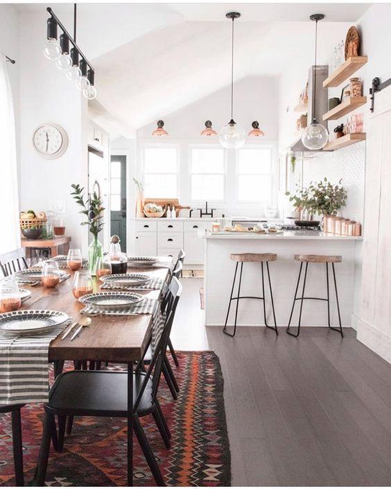Beautiful Bohemian Style Kitchen Decoration Ideas 30