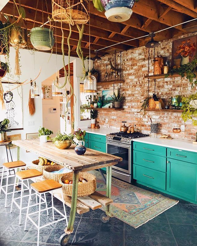 Beautiful Bohemian Style Kitchen Decoration Ideas 35
