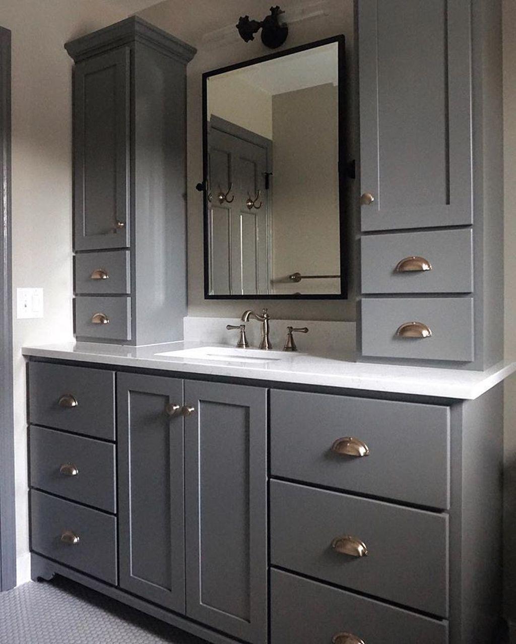 Fabulous Bathroom Cabinets Design Ideas 06