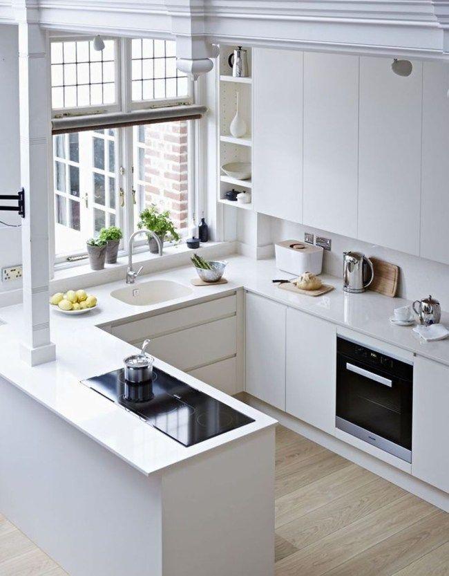Inspiring White Kitchen Design Ideas With Luxury Accent 08