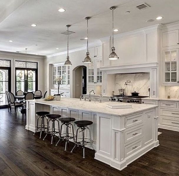 Inspiring White Kitchen Design Ideas With Luxury Accent 13