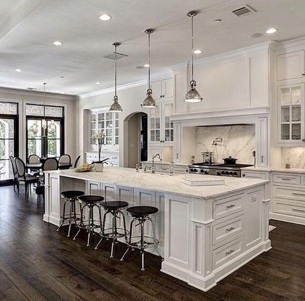 Inspiring White Kitchen Design Ideas With Luxury Accent 13