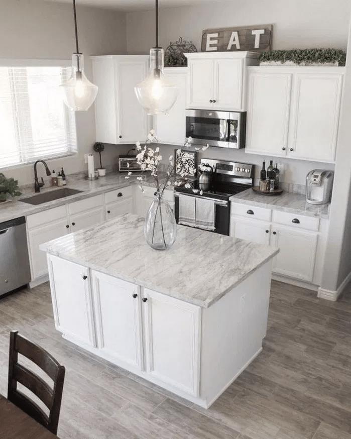 Inspiring White Kitchen Design Ideas With Luxury Accent 21