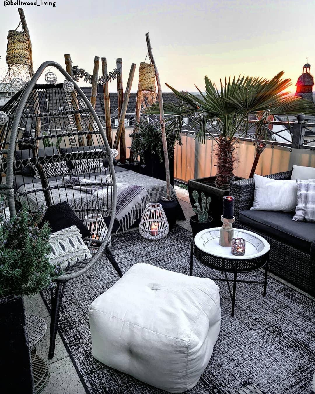 Lovely Bohemian Style Ideas For Your Outdoor Design 11