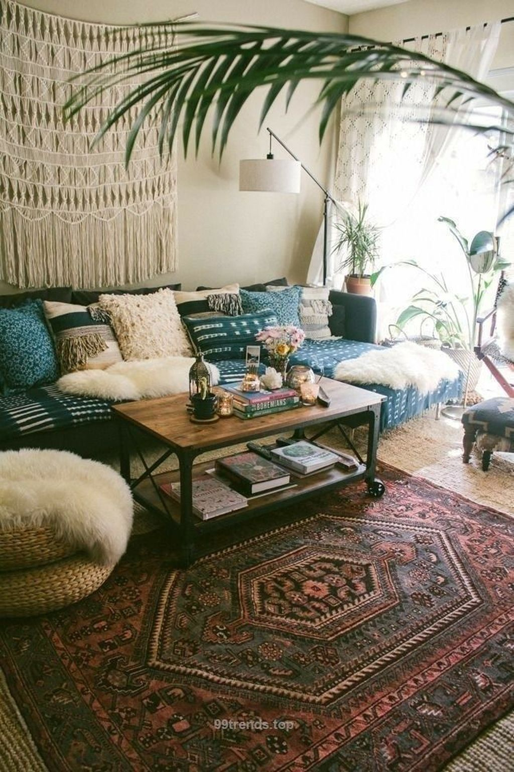 Lovely Living Room Decoration Ideas With Bohemian Style 20