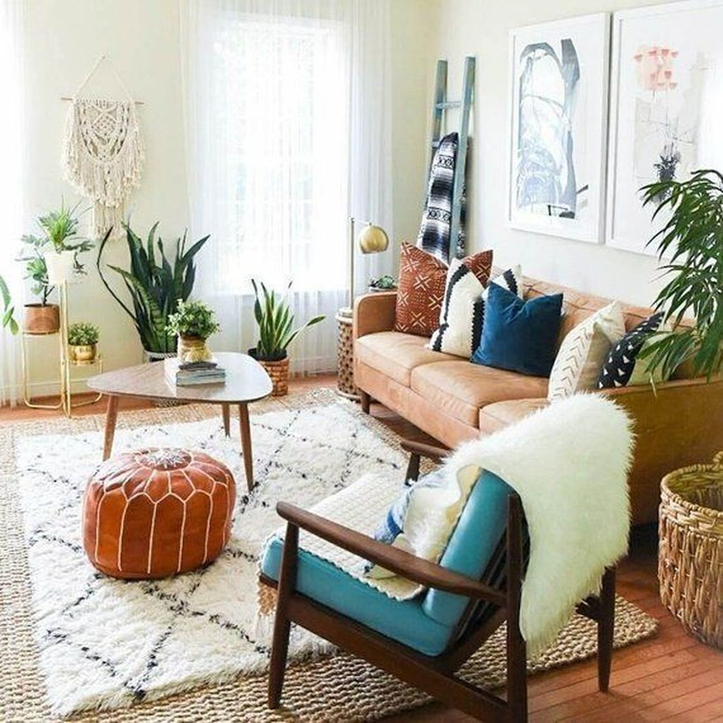 Lovely Living Room Decoration Ideas With Bohemian Style 30