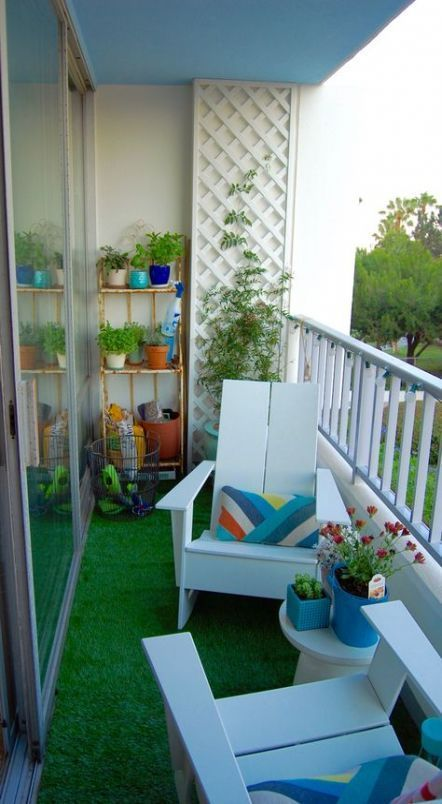 Lovely Small Porch Apartment Balconies Ideas 04