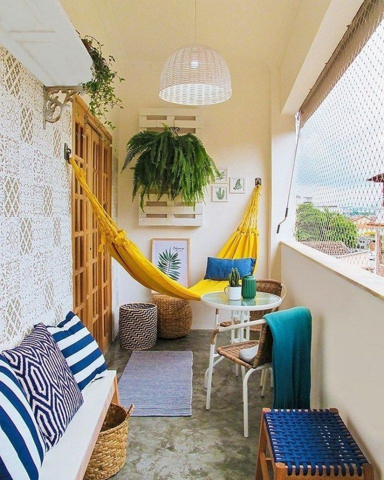 Lovely Small Porch Apartment Balconies Ideas 06