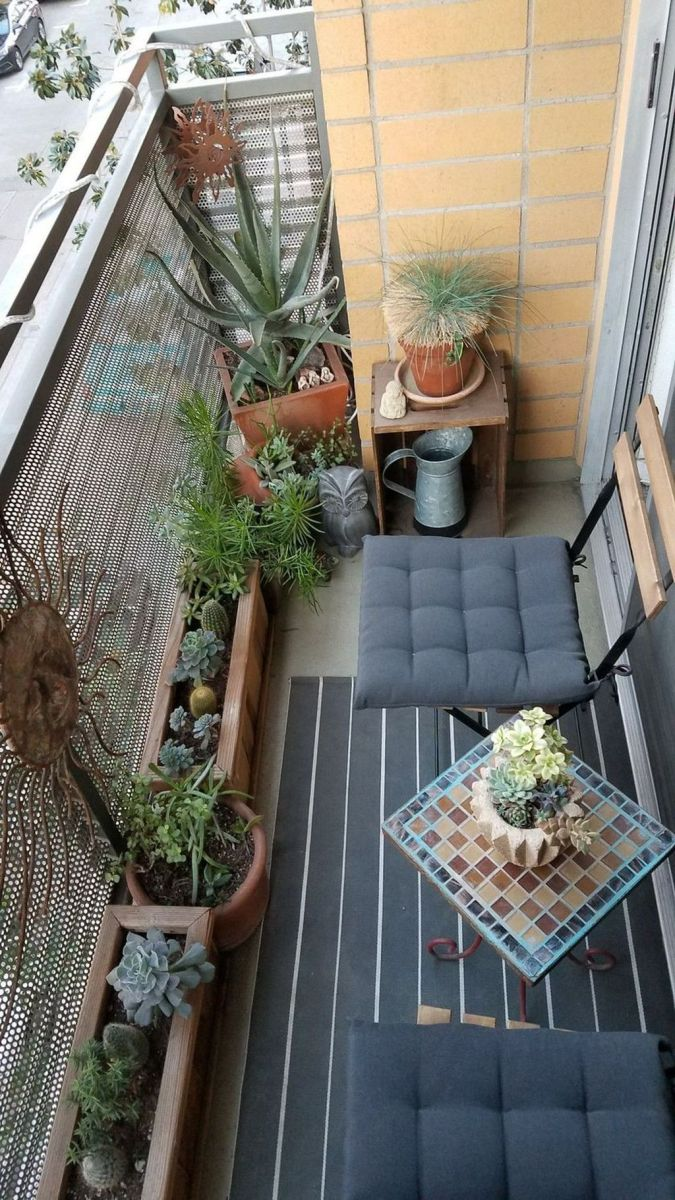 Lovely Small Porch Apartment Balconies Ideas 10