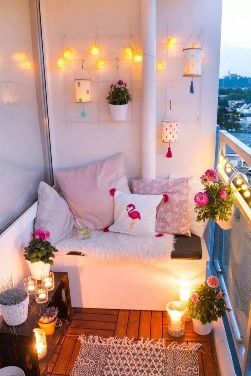 Lovely Small Porch Apartment Balconies Ideas 11
