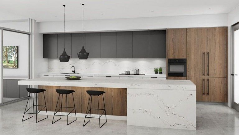 Nice Modern Kitchen Design And Decor Ideas 07