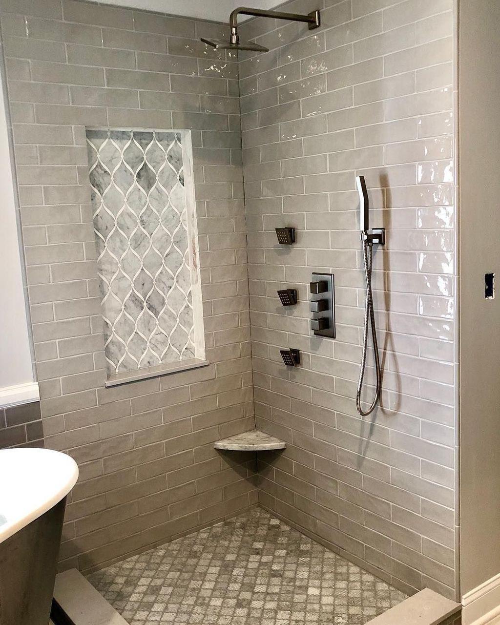 Nice Tile Shower Ideas For Your Bathroom 13