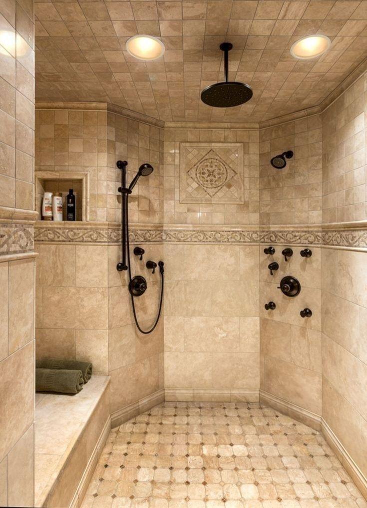 Nice Tile Shower Ideas For Your Bathroom 16