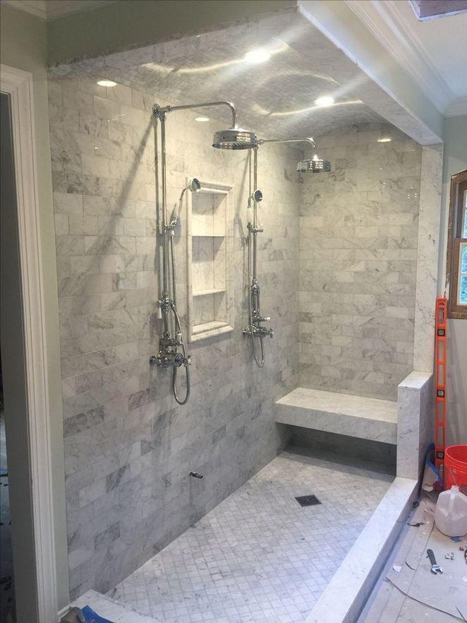 Nice Tile Shower Ideas For Your Bathroom 23