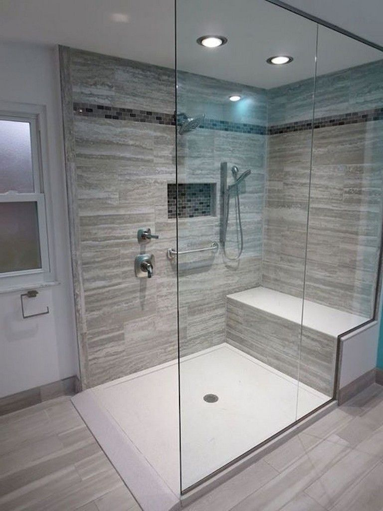Nice Tile Shower Ideas For Your Bathroom 24
