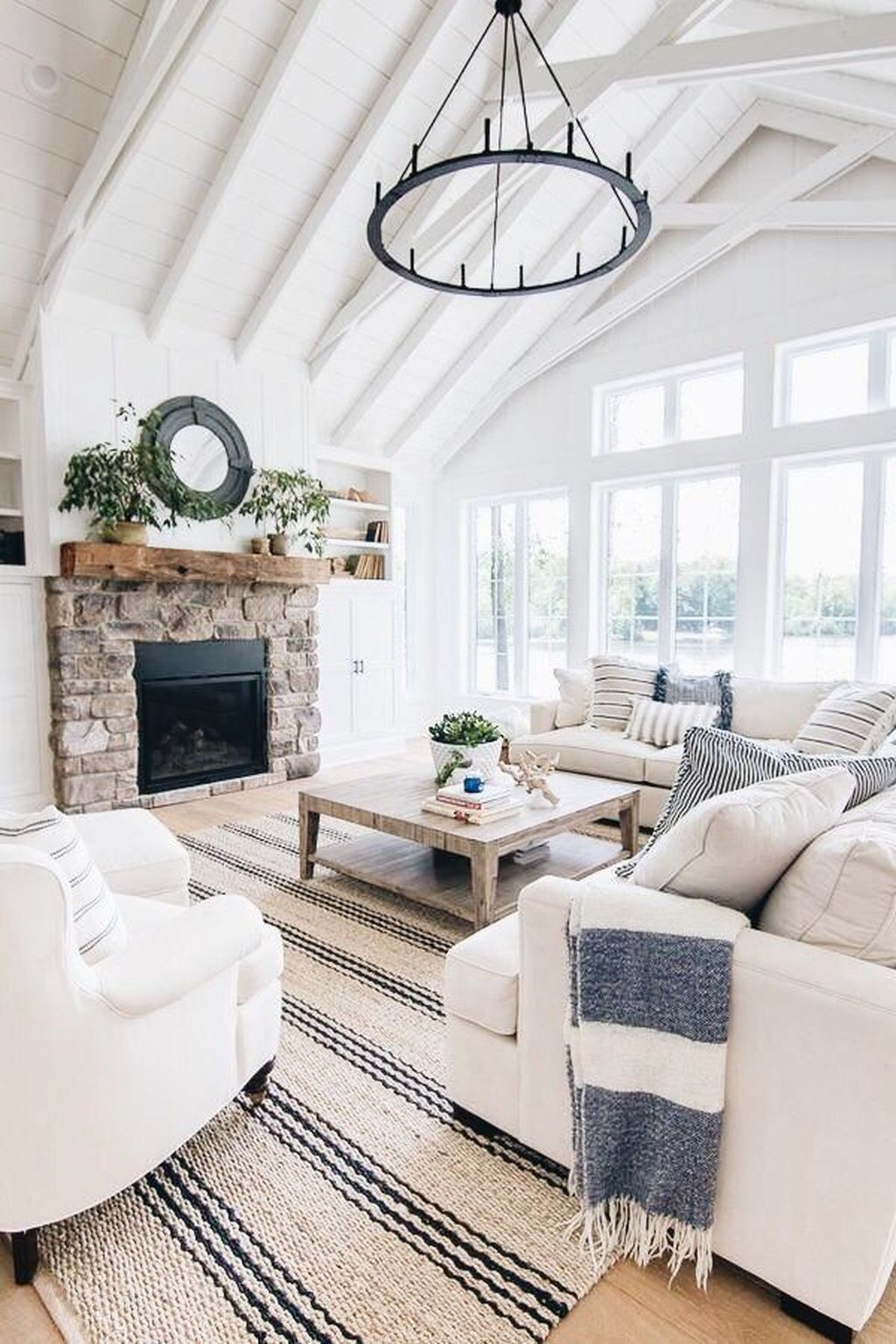 Popular Modern Farmhouse Living Room Decor Ideas 15