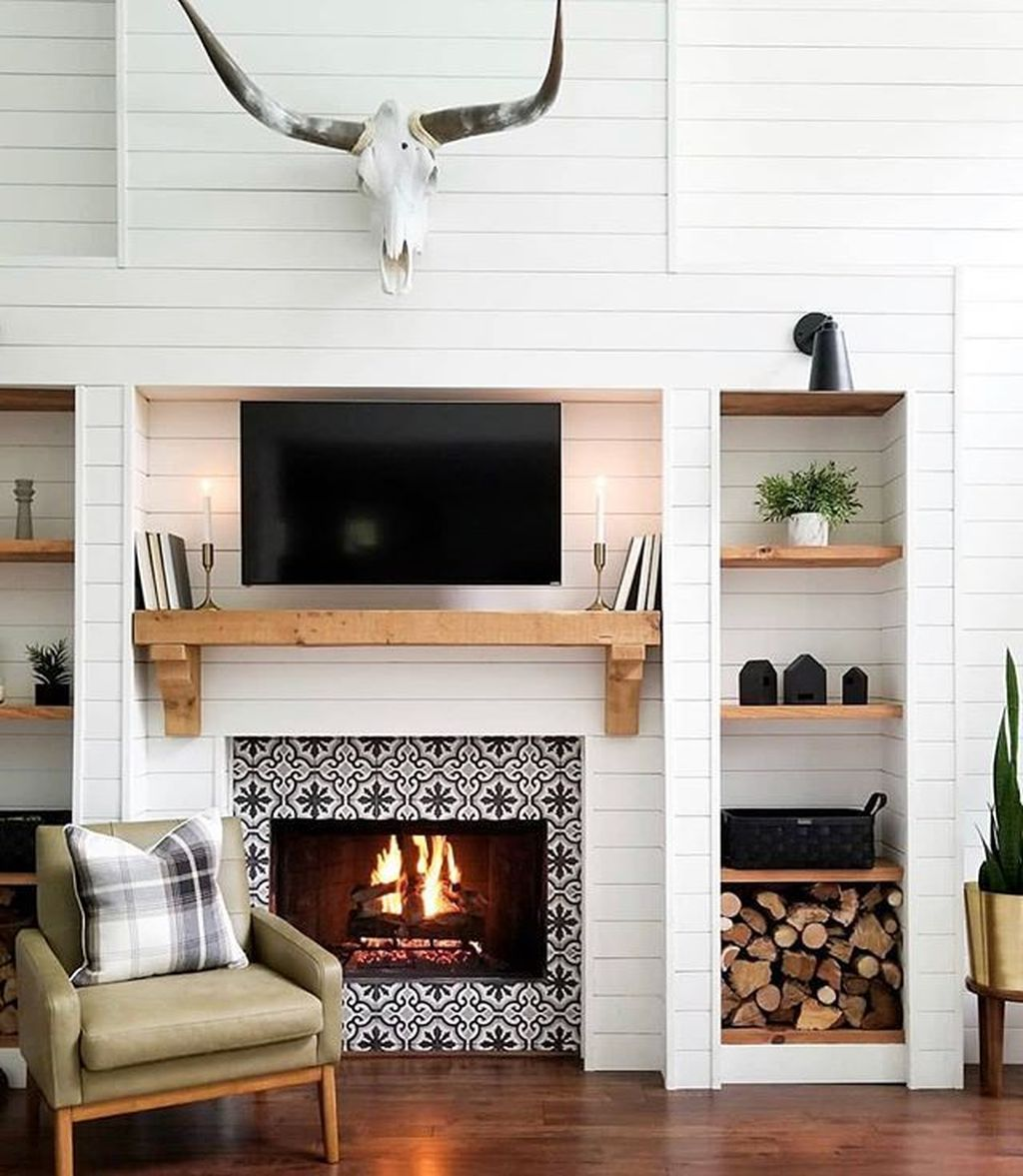 Popular Modern Farmhouse Living Room Decor Ideas 27