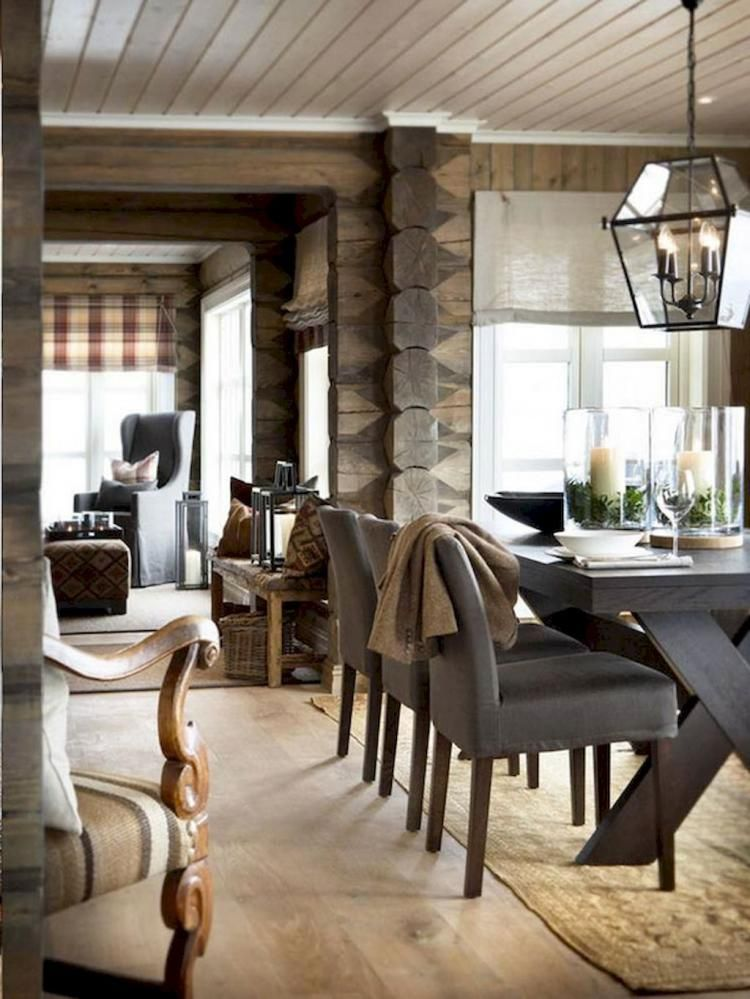 Popular Rustic Farmhouse Style Ideas For Dining Room Decor 05