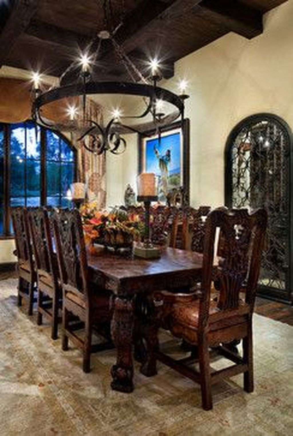 Popular Rustic Farmhouse Style Ideas For Dining Room Decor 25