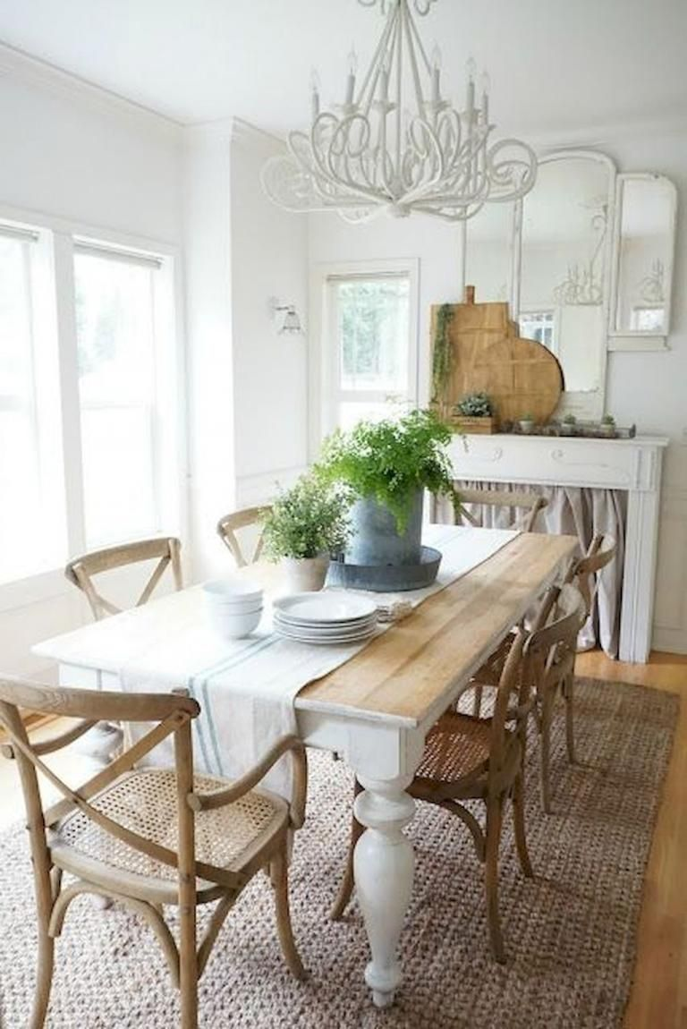 Popular Rustic Farmhouse Style Ideas For Dining Room Decor 28