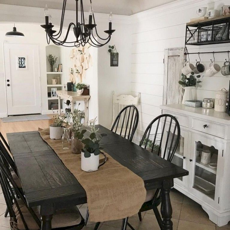 Popular Rustic Farmhouse Style Ideas For Dining Room Decor 31