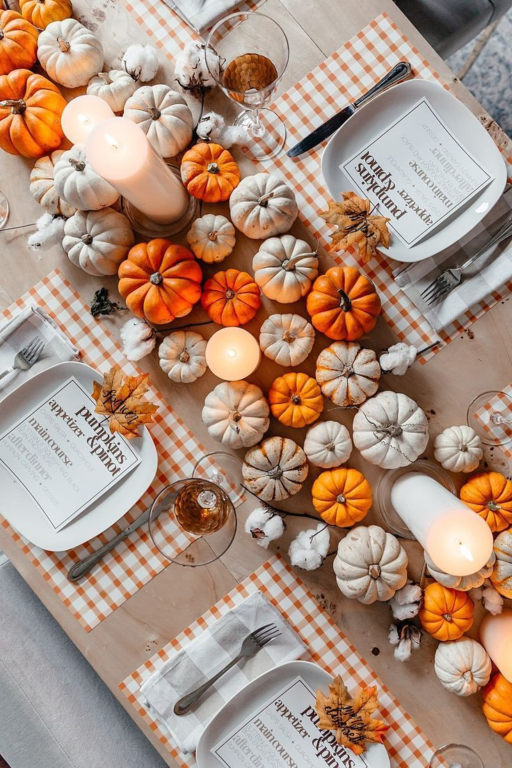Popular Thanksgiving Table Decorating Ideas Beautiful Look 16