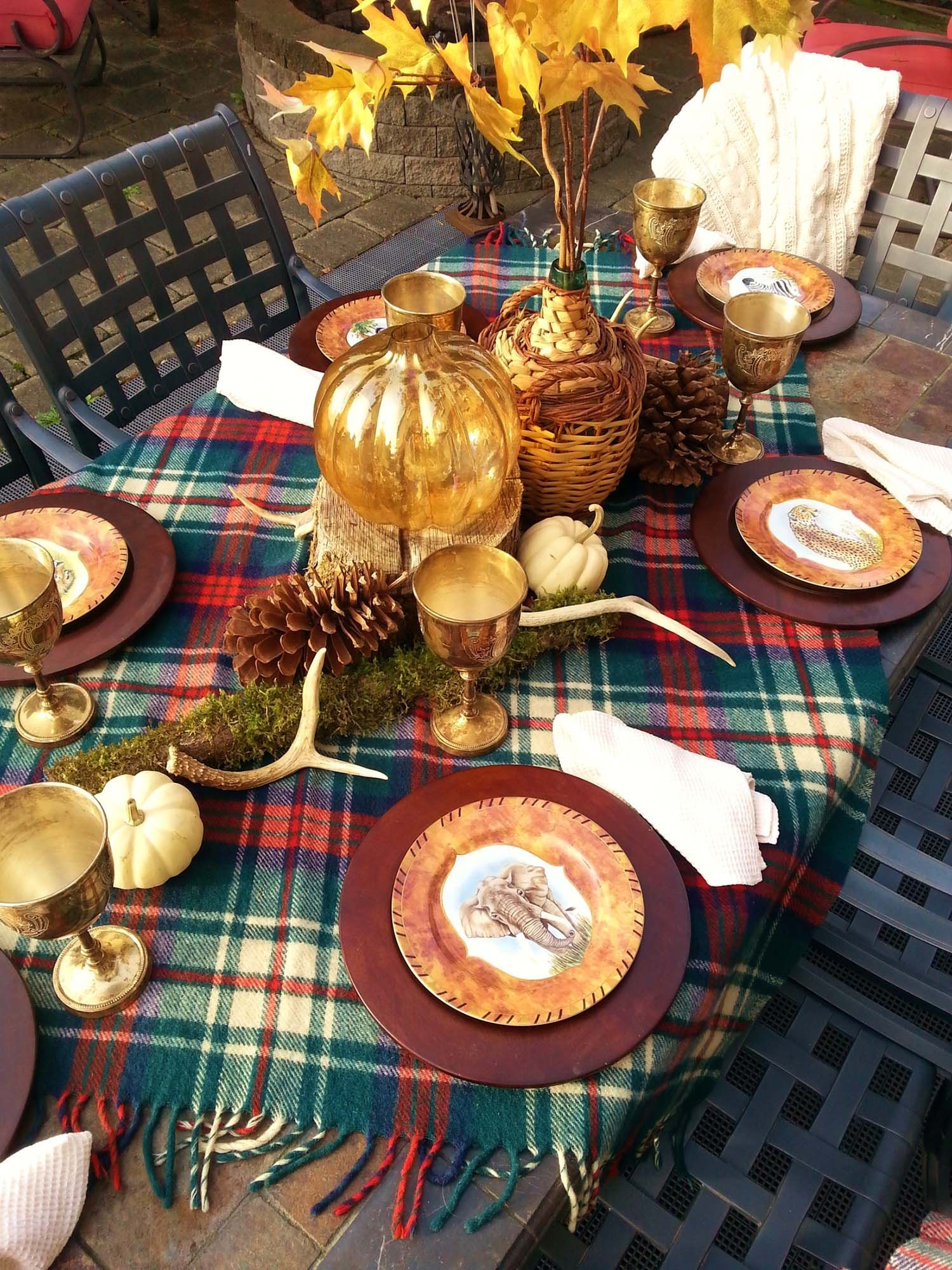 Popular Thanksgiving Table Decorating Ideas Beautiful Look 23