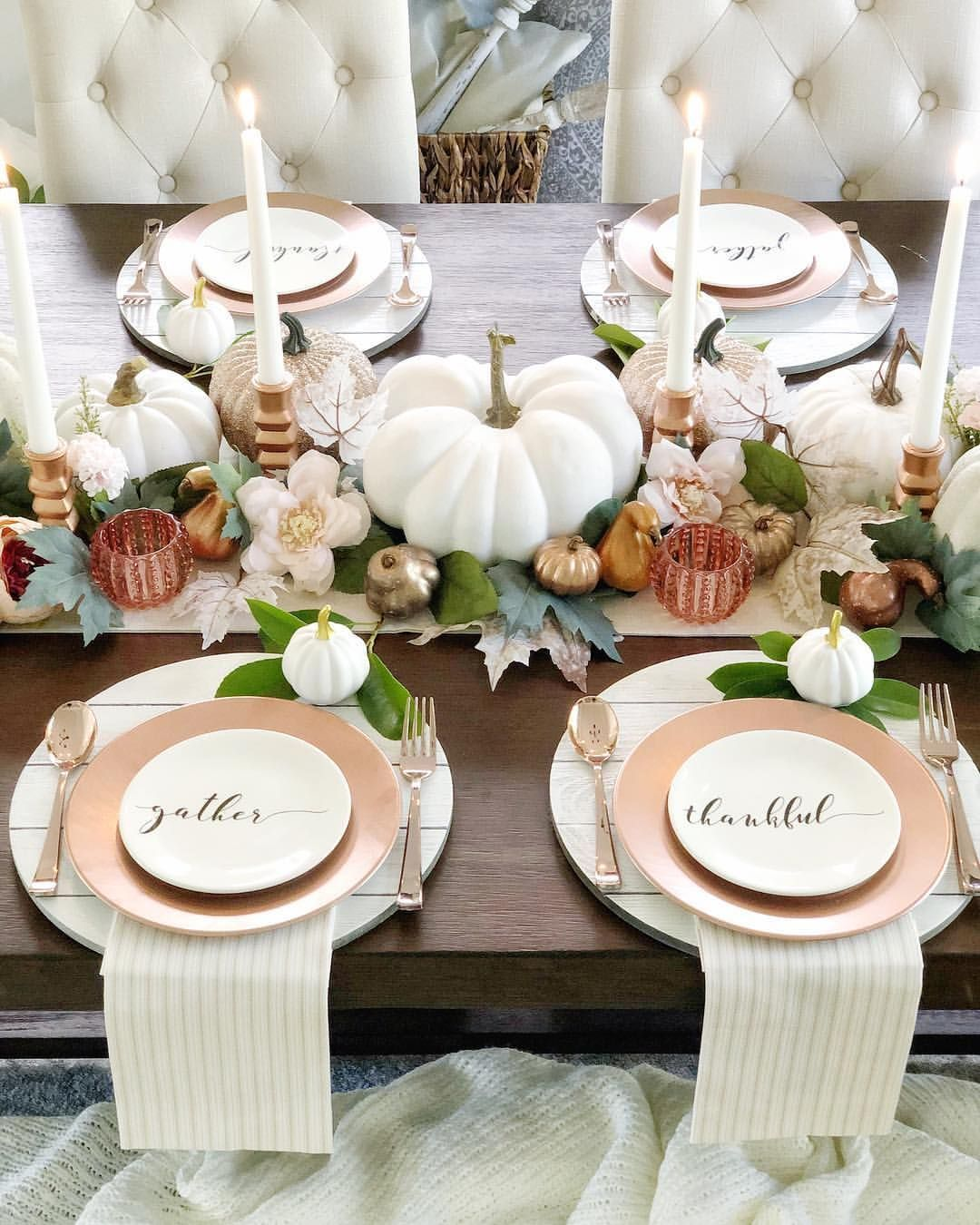 Popular Thanksgiving Table Decorating Ideas Beautiful Look 33