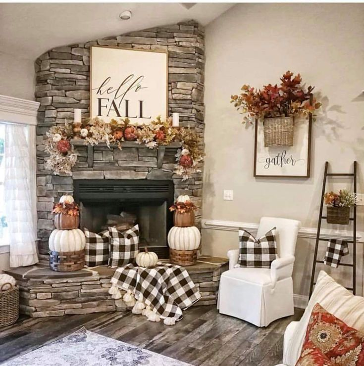 The Best Thanksgiving Living Room Decor Ideas 32
