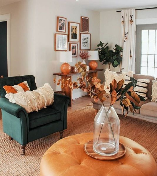 The Best Thanksgiving Living Room Decor Ideas 36