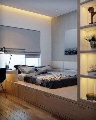 Awesome Modern Small Bedroom Design And Decor Ideas 27