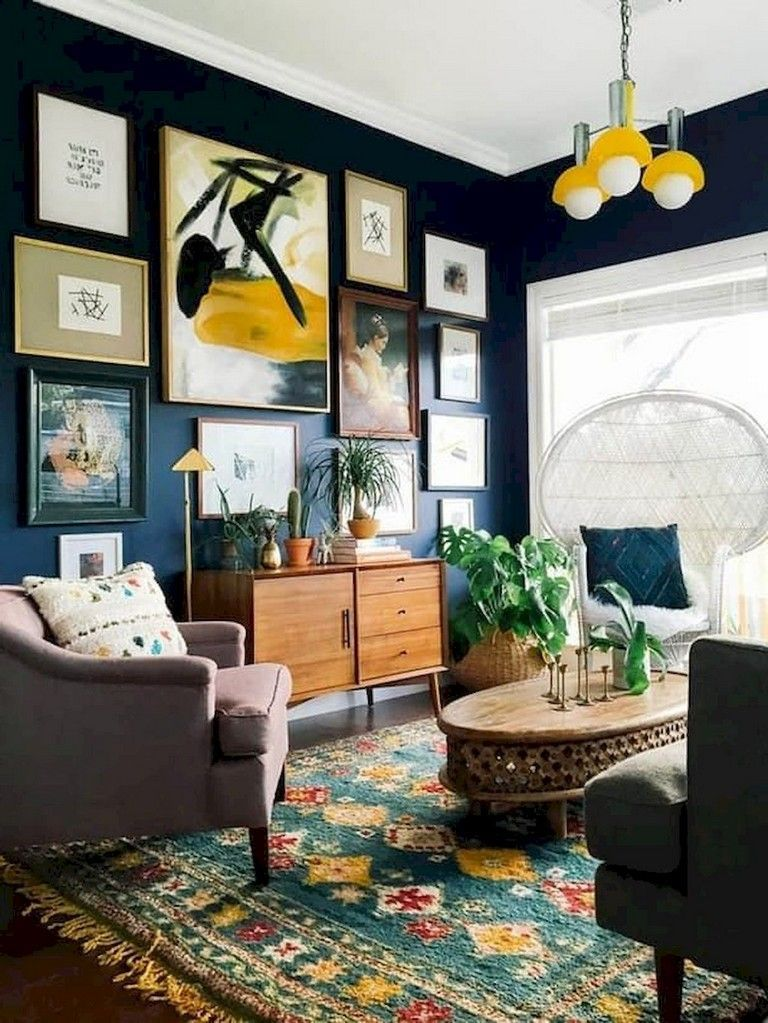 Beautiful Living Room Wall Gallery Decorating Ideas 25