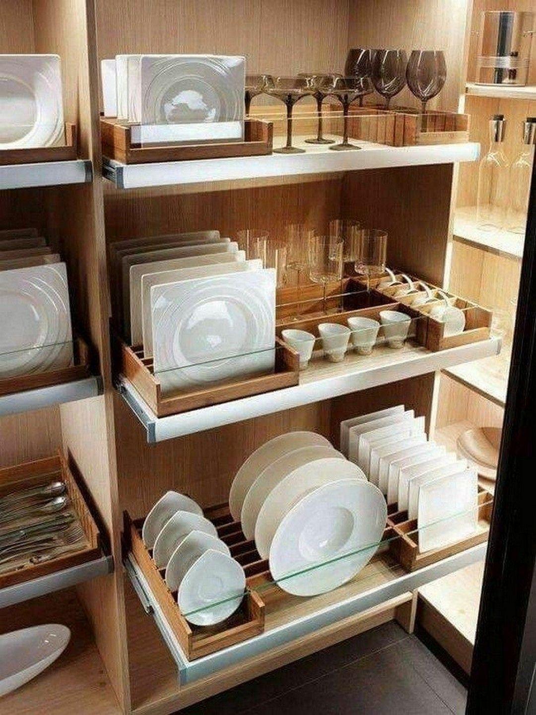 Lovely DIY Kitchen Storage Ideas To Maximize Kitchen Space 24