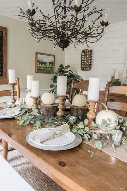 Amazing Fall Dining Table Decor Ideas For Your Dining Room Decor 35
