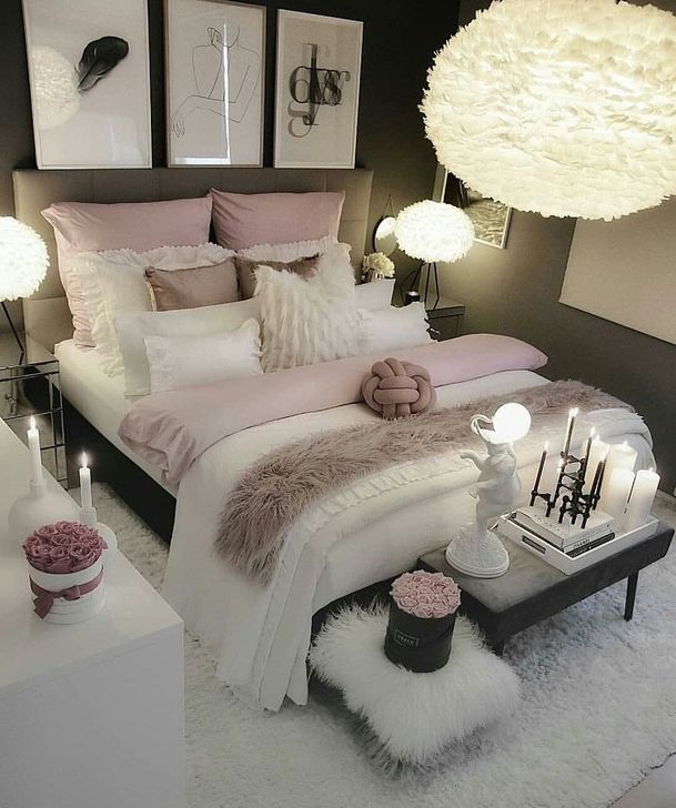 Beautiful White Bedroom Design And Decor Ideas 15