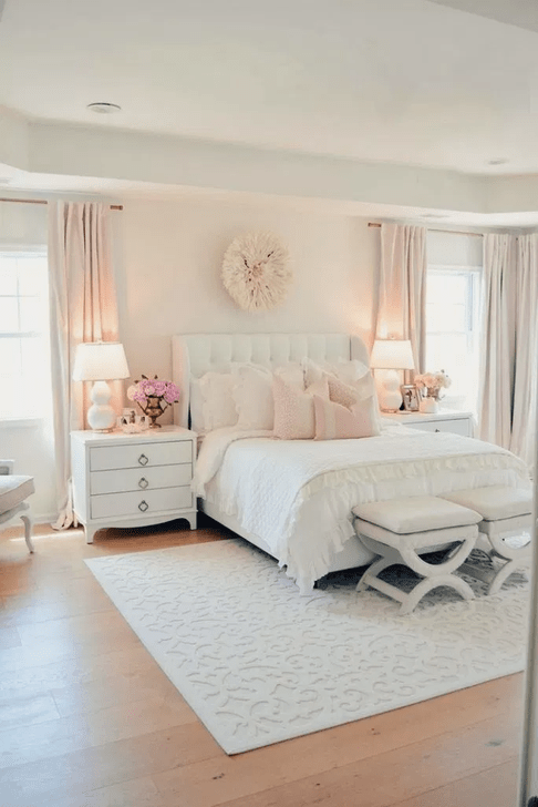Beautiful White Bedroom Design And Decor Ideas 29