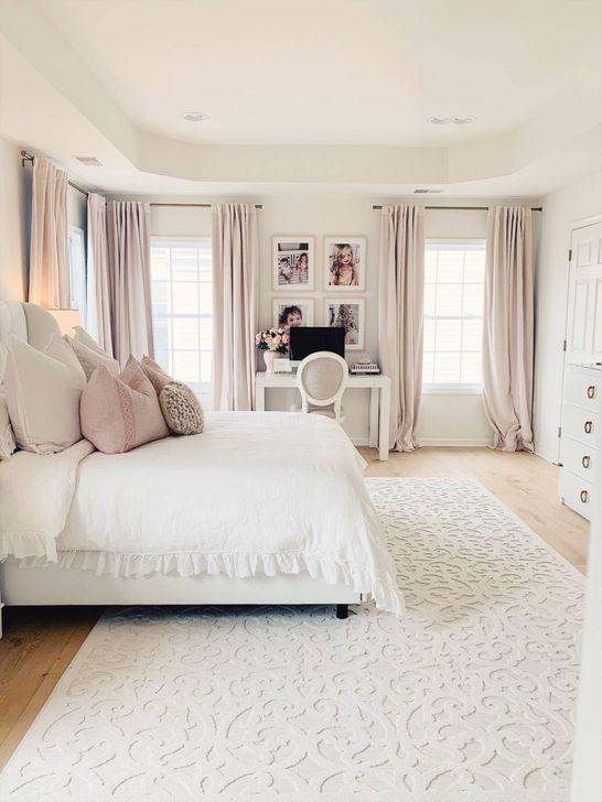 Beautiful White Bedroom Design And Decor Ideas 33