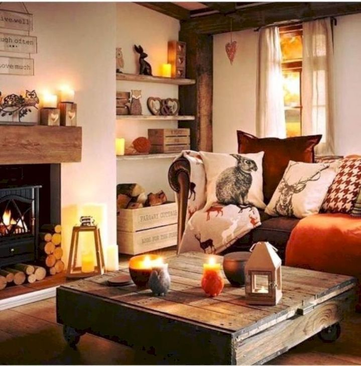 Fabulous Fall Living Room Decor Ideas To Feel Comfortable At Home 06