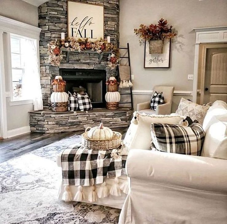 Fabulous Fall Living Room Decor Ideas To Feel Comfortable At Home 31