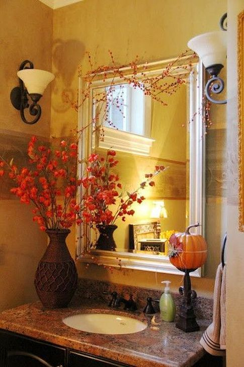 Gorgeous Fall Bathroom Decorating Ideas 11