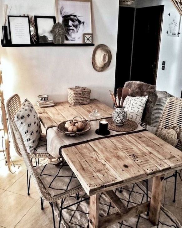 Gorgeous Rustic Dining Room Design Ideas 03